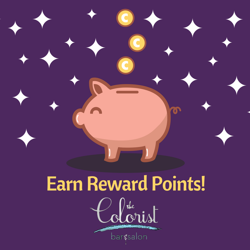 The Colorist Hair Salon in Cleveland offeres a reward points system!