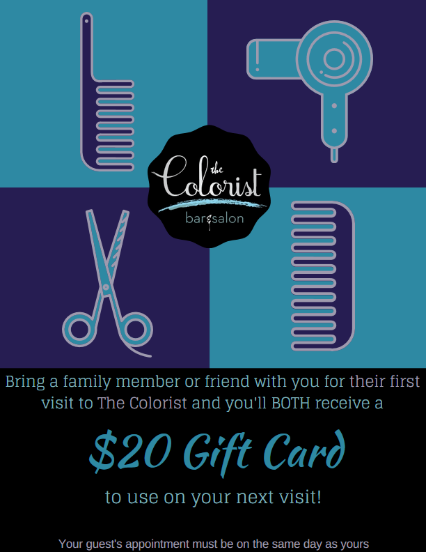 Bring your friends and family to an appointment and get a $20 gift card!