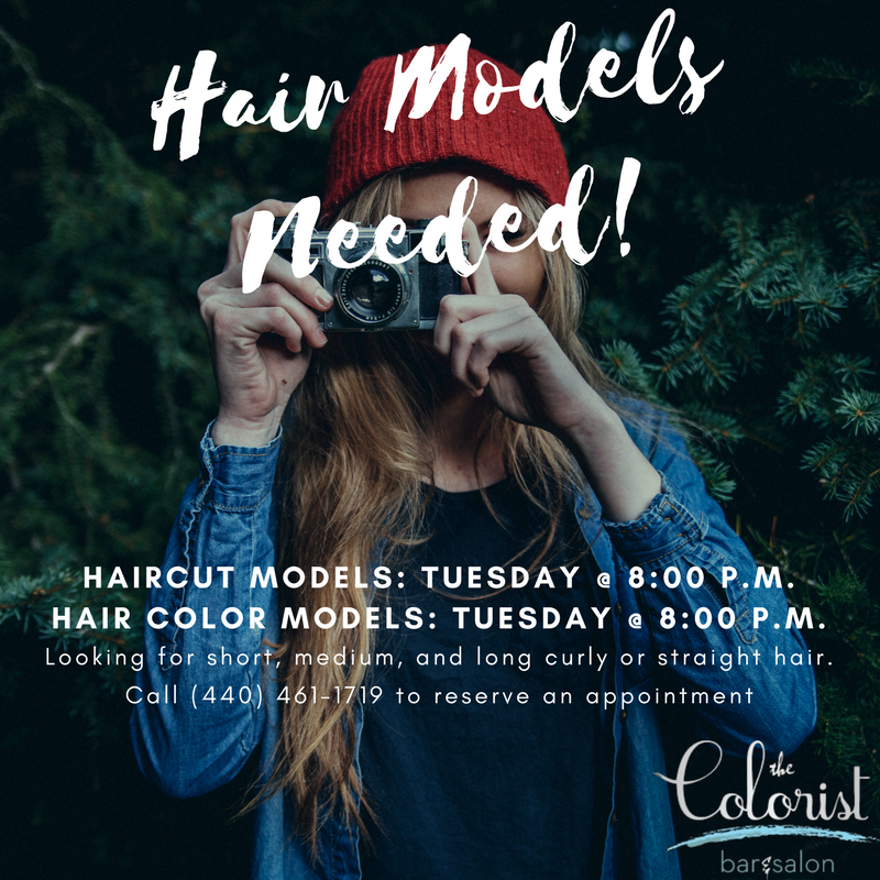 The Colorist Hair Salon in Cleveland is looking for hair models!