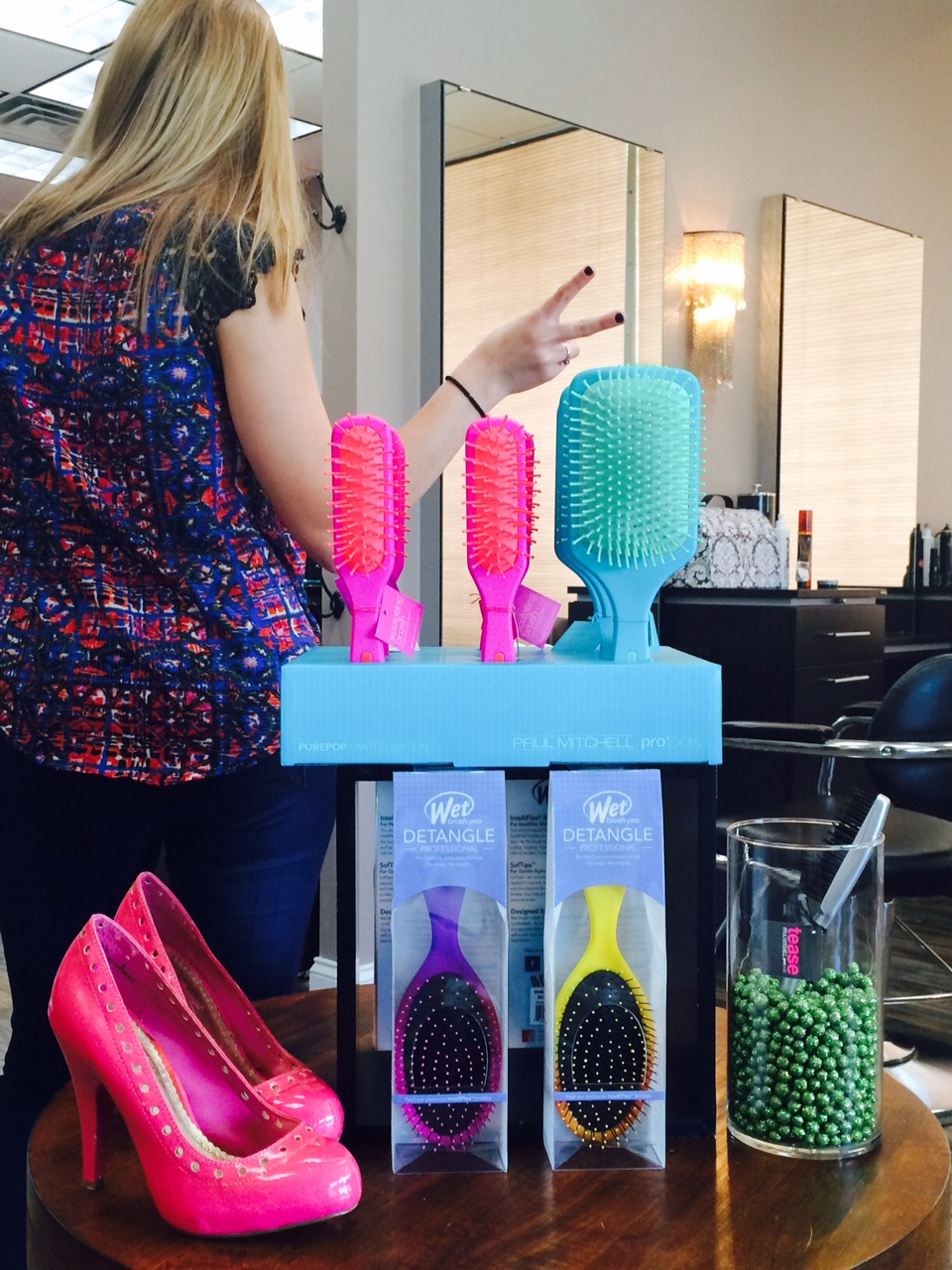 Colorful Fun Brushes at The Colorist Salon