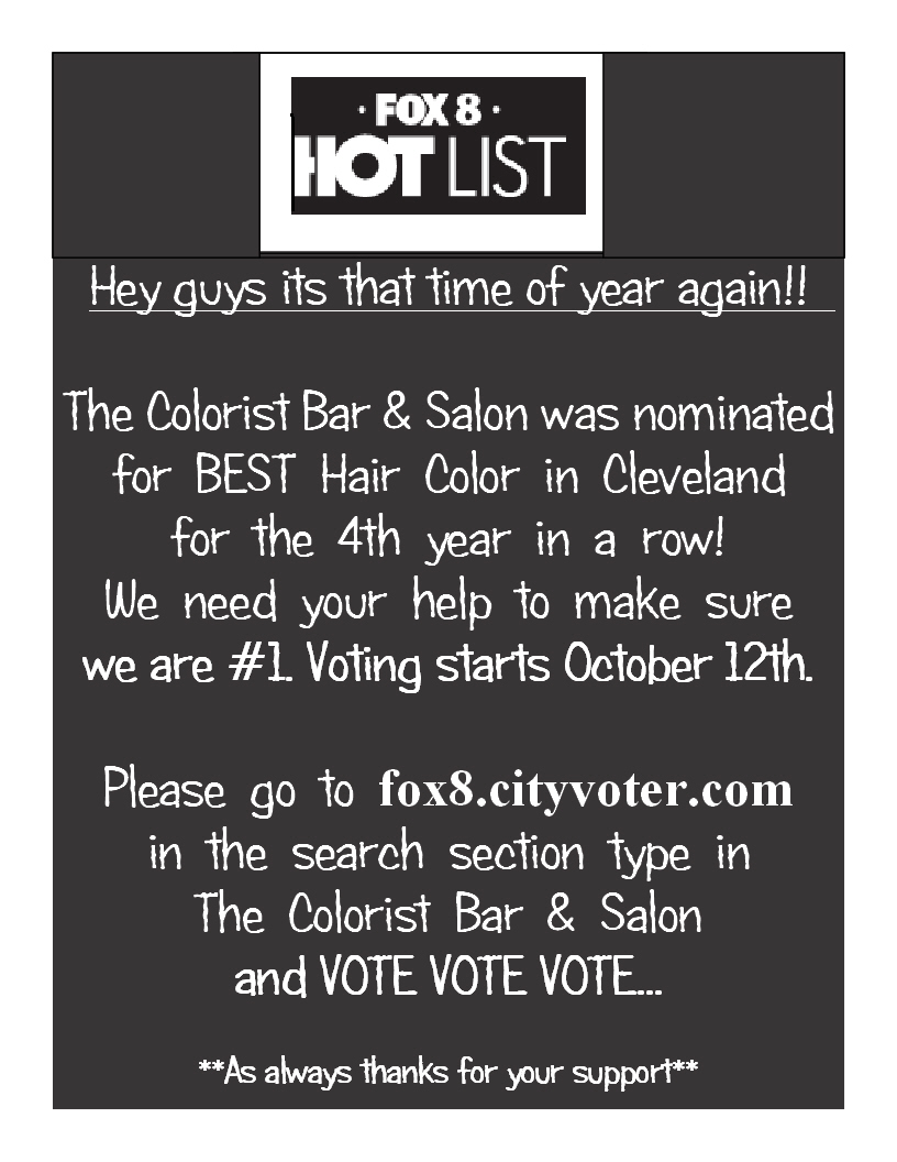 The Colorist Bar and Salon Fox 8 Hot List