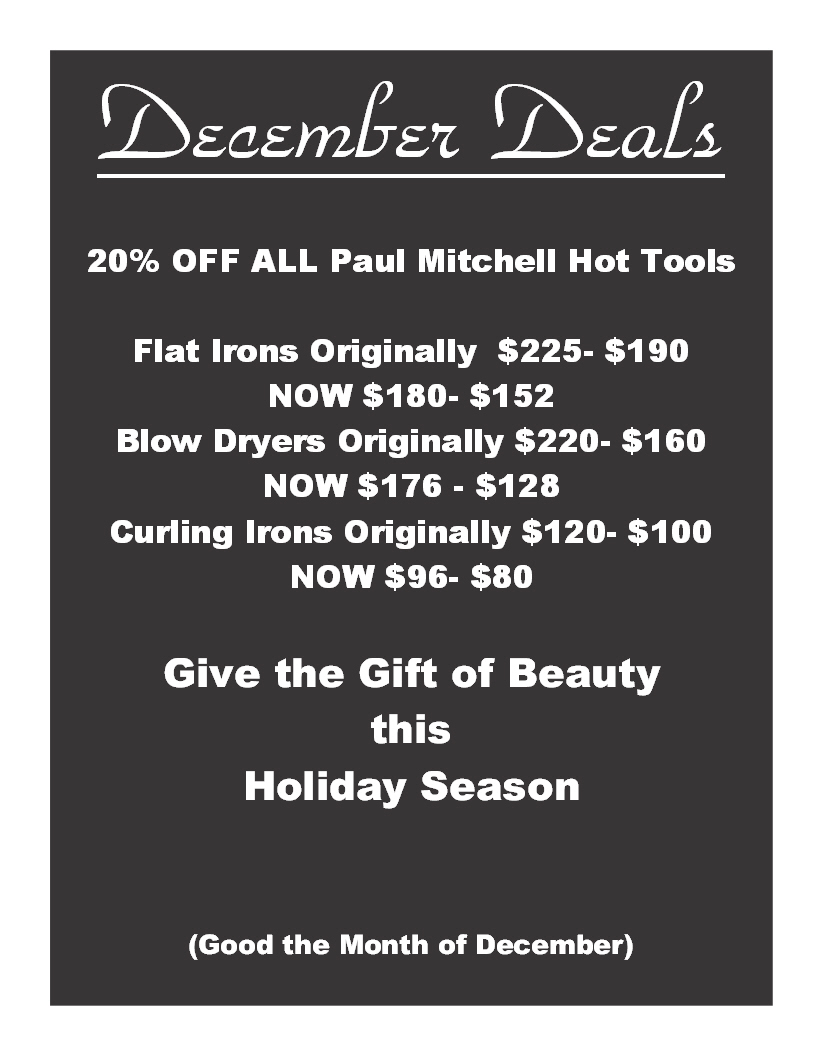 December Discount on Paul Mitchell Hot Tools | The Colorist Bar and Salon