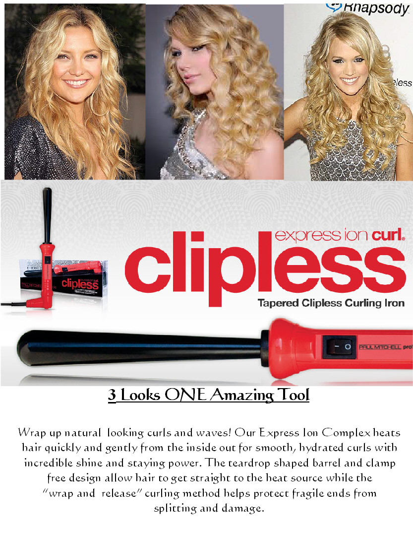 Express Ion Clipless Curls