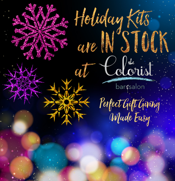 Holiday Kits are in Stock at The Colorist Hair Salon in Cleveland!