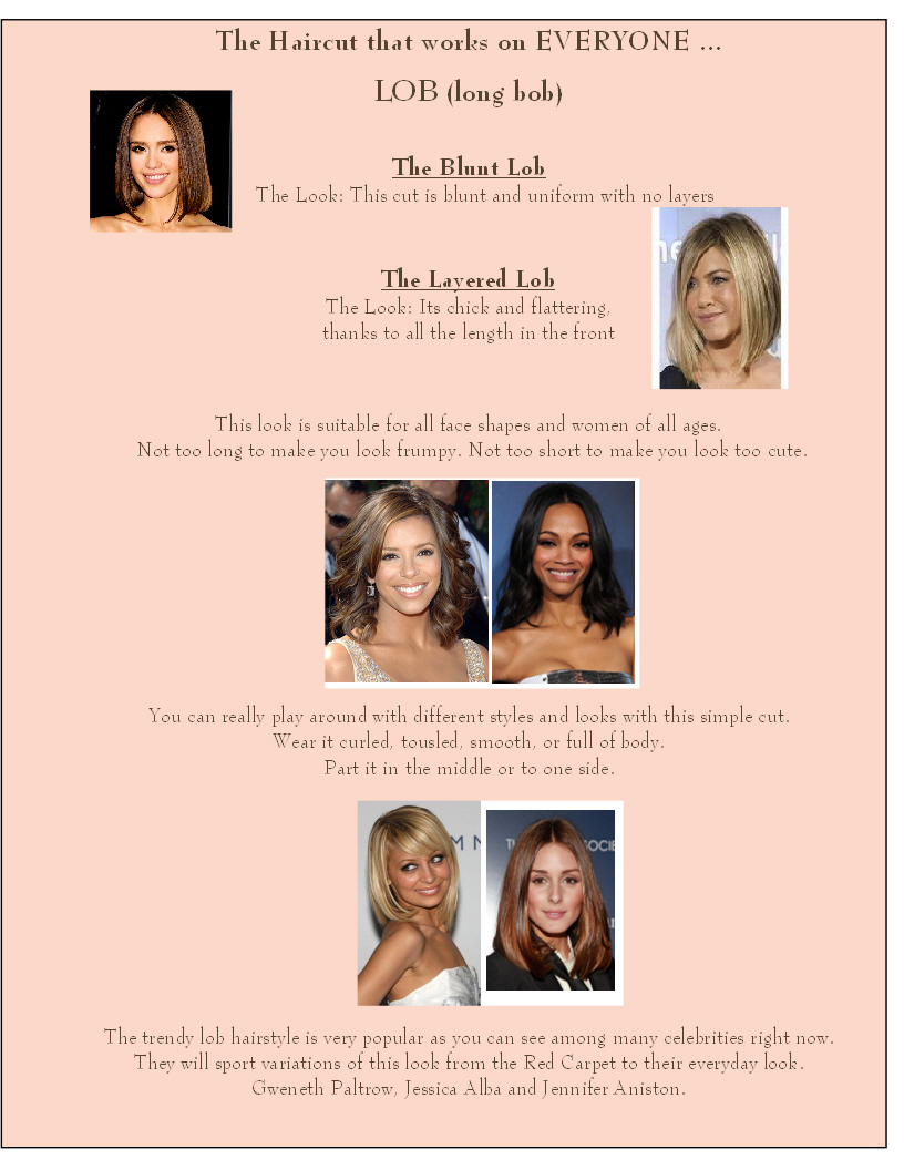 The Lob Hairstyle | The Colorist Bar and Salon